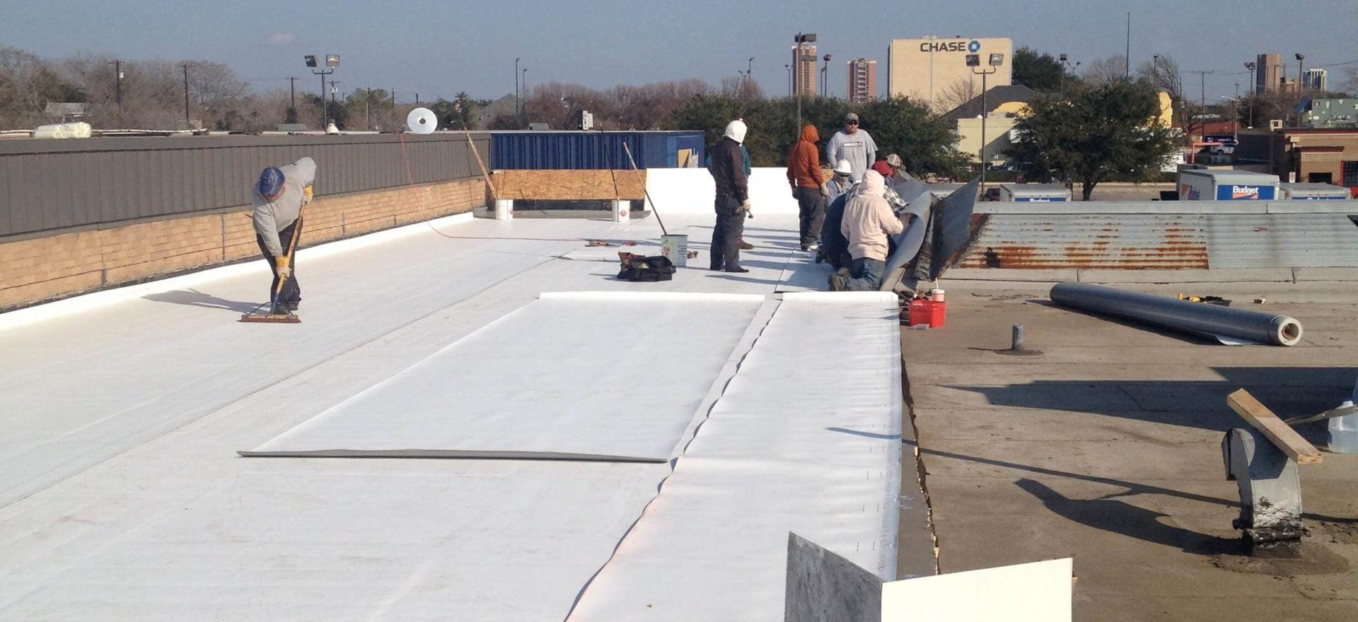 TPO Roofing Job Dallas